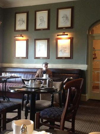 Listowel Arms Hotel : The wall of famous writers in the pub/ restaurant.