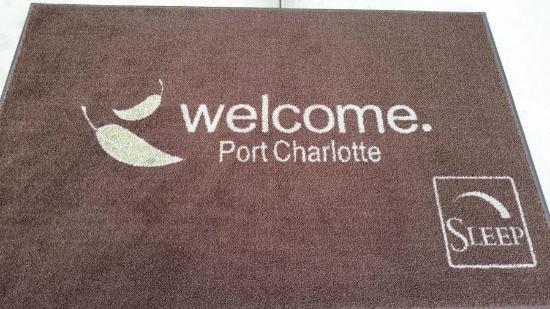 Sleep Inn & Suites Port Charlotte: Welcome mat