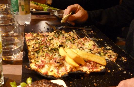 Le Grognard : la tarte flambée