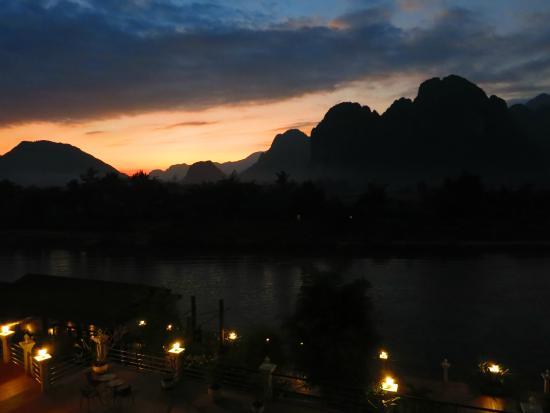 سيلفر ناجا هوتل: Sunset view from our room