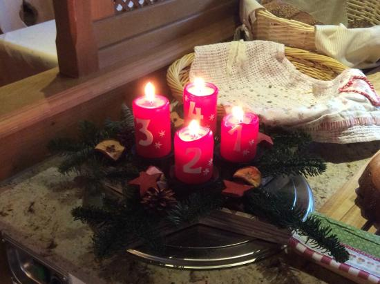 Hotel Augarten: Advent candles