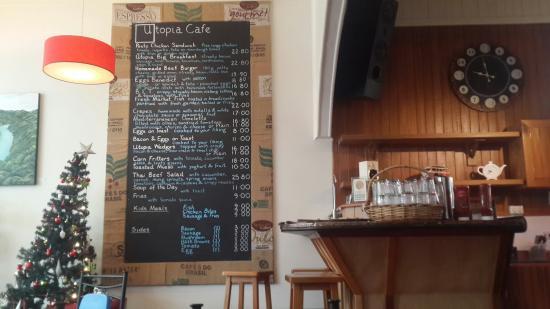 Utopia Delicatessen Cafe: Utopia. Good stopover and here's the menu
