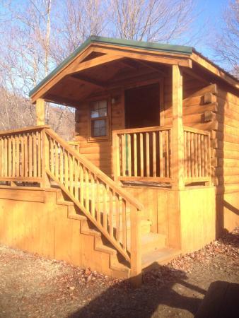 """Asheville West KOA: Outside of """"kabin"""""""