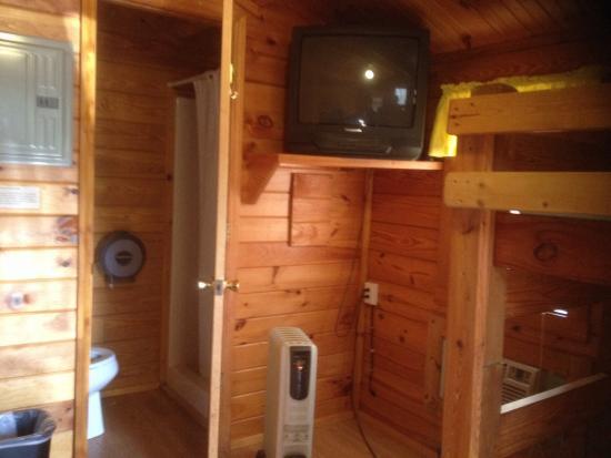 """Asheville West KOA: Inside of """"kabin"""""""