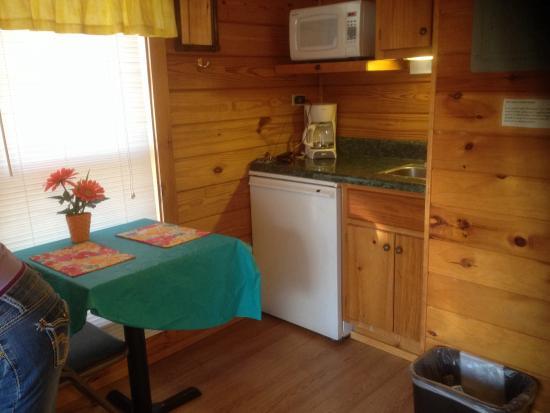 Asheville West KOA: Inside of kabin