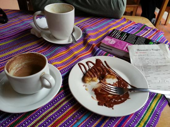 Fernando's Kaffee: Mochas and a Cronut after our crepes