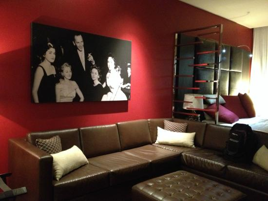 Sectional sofa with photo of Frank - Golden Gate Hotel ...