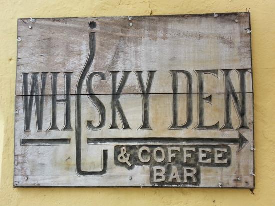Whiskey Den Coffee Bar Sign