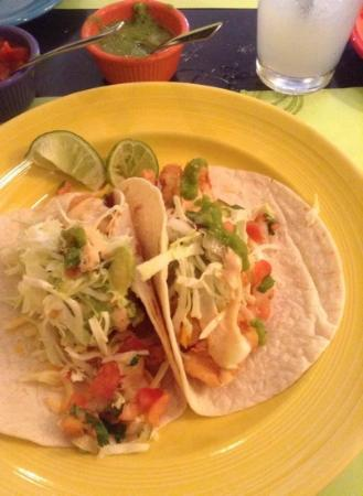 Fish tacos picture of la pinata mexican restaurant for Fish taco restaurant