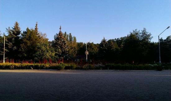 Центр парка Горького возле фонтана