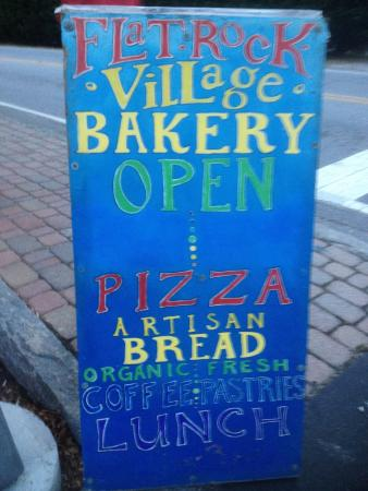 Flat Rock Village Bakery: Sign outside