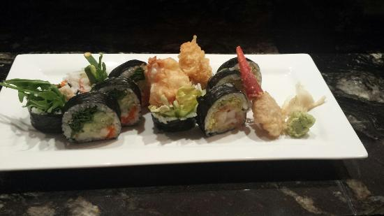 Blue Fin: New England Roll & King Crab Arugula Roll