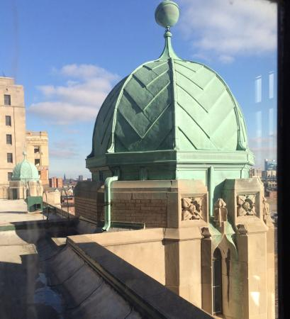 Masonic Temple: Looking outside