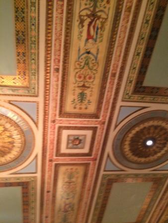 Masonic Temple: Decorative ceiling.