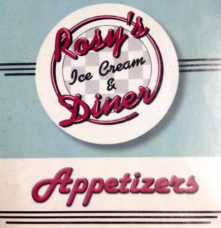 Rosy's Ice Cream & Diner: Menu