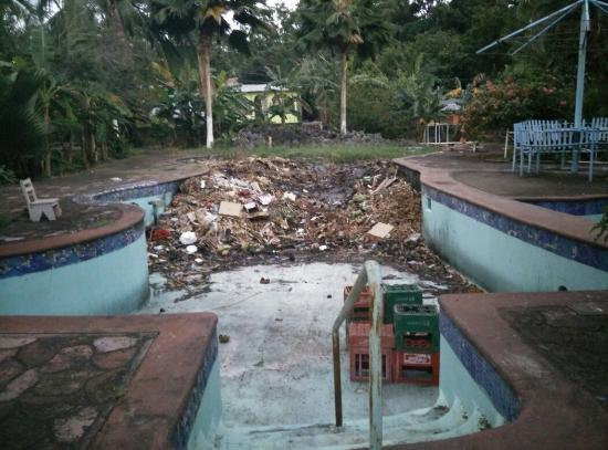 Hotel Ometepetl : Pool used as garbage disposal & is home of tons of mosquitos