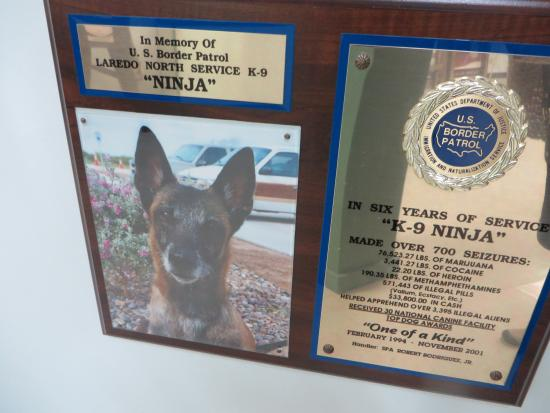 National Border Patrol Museum: Canine assistant