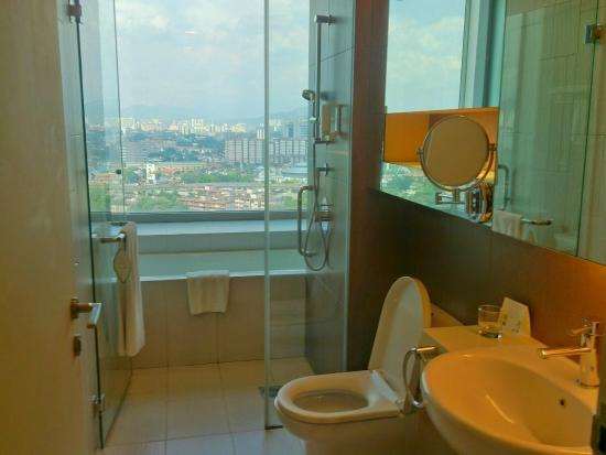 Somerset Ampang Kuala Lumpur View From Bathroom Transparent Glass Window