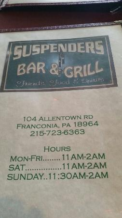 Suspenders Bar & Grill