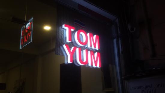 TOM YUM signage @ 330 Galle Rd,C4.