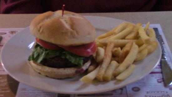 All Aboard Restaurant: Thick, but unseasoned burger