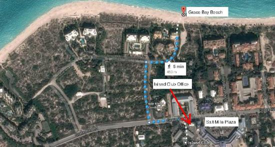 Google Earth Map to Beach Google shows it as a 5 min walk