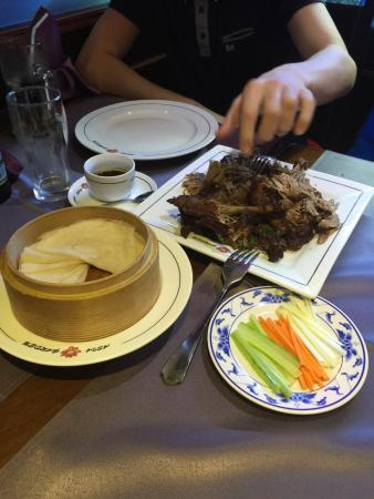 Asia Garden: Crispy duck and pancakes