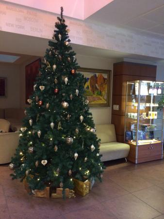 Europa City Hotel: Елочка, гори:)