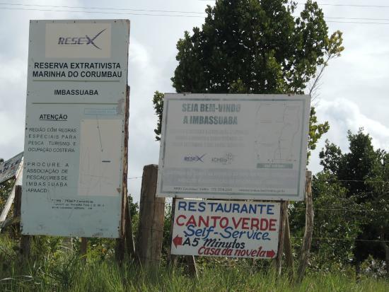 Imbassuaba Beach: Sinalização