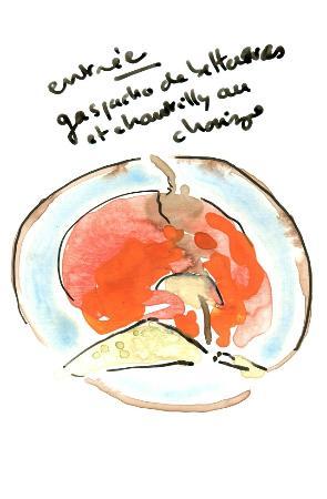 Le Bartok : L'entrée croquée dans un autre sens.
