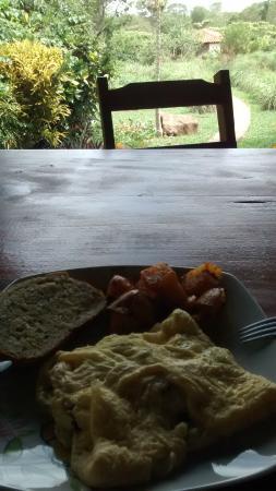 Finca Mystica: heerlijk eten! veggie omelet.