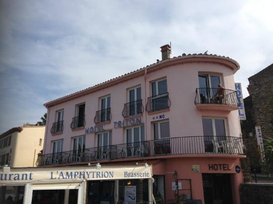 Hotel Triton: Fasade mot sjøen