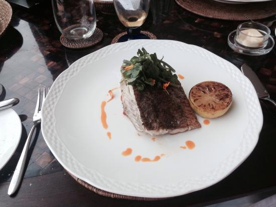 The Pavilion : Pan fried Sea Bass
