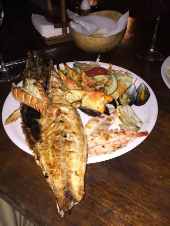 Viva Zapata : Seafood grill, this is the half plate!