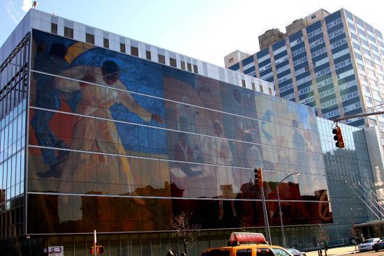 Harlem Heritage Tours: Mural along Malcom X. Blvd.