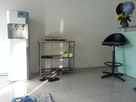Malabar Inn: shoes rack & counter front