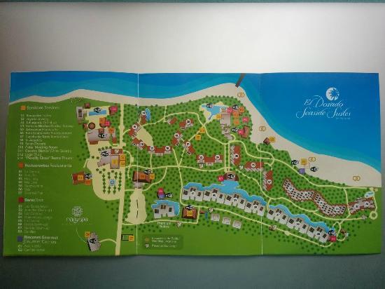 El Dorado Sensimar Riviera Maya: Resort Map