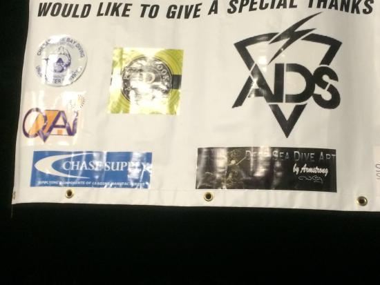 Holiday Trav-L-Park : Close up of sponsor logos.