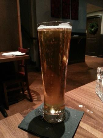 Jean Farris Winery & Bistro: Local microbrew pilsner
