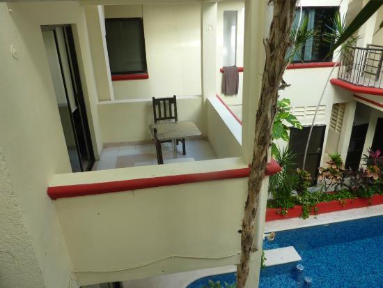 Hotel Maya Turquesa: Balcon chambre 5