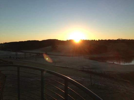 Drumoig, UK: View from room balcony