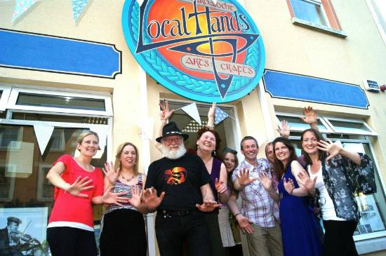 Ballyshannon, Ireland: front of local hands shop