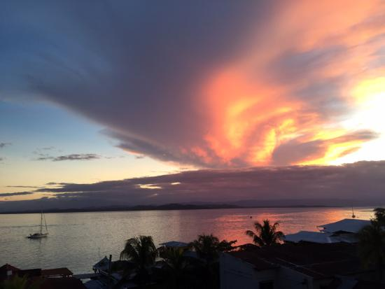 Hotel Palma Royale: Breathtaking sunset from the balcony of our Deluxe Suite!