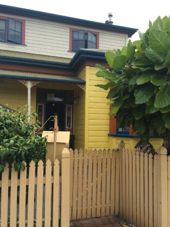 The Yellow House Cafe from the outside - more charming than it looks in photos