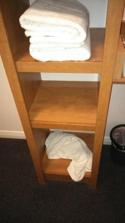Premier Inn Gloucester Business Park Hotel: the extra towel left in the bathroom