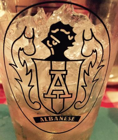 Albanese's Roadhouse: The Albanese family crest is another sign of the family pride.