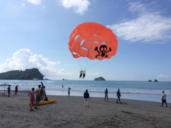 Aguas Azules Parasailing & Watersports Tours: After take off
