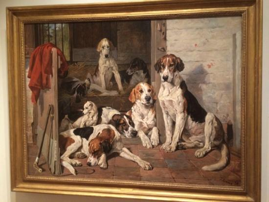 National Sporting Library & Museum: Beautiful painting of animals.