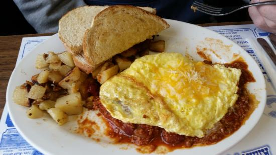 Annie's Overflow : Tasty Chili/Cheese Omelette