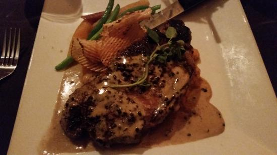 Six Burner Bistro: A tasty NY Steak Au Poivre peppercorn-crusted